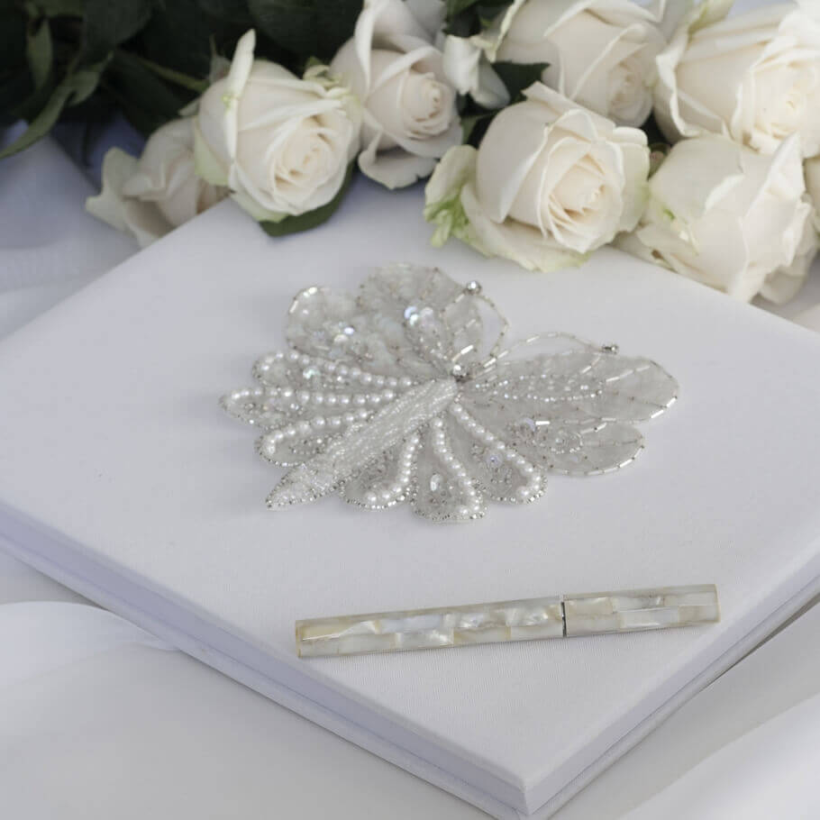 Sequinned Butterfly Guest Book