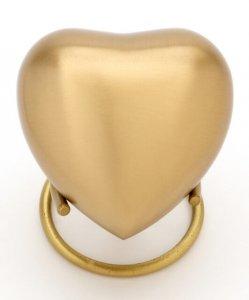 Heart Keepsake classic Brass