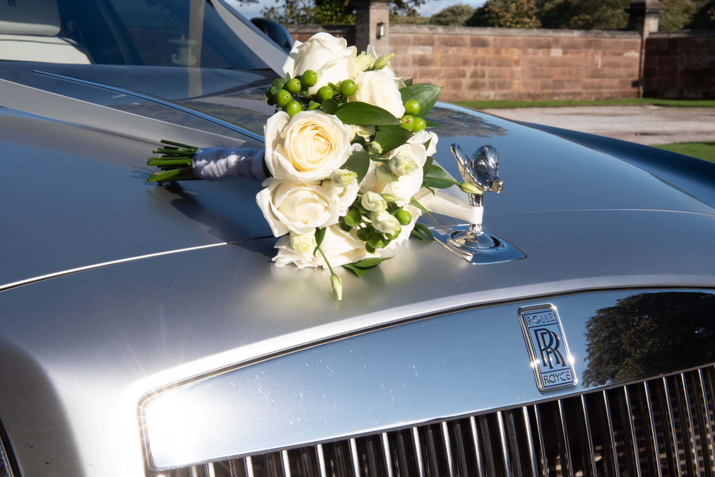 Flowers on Wedding Car