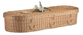 Oval Wicker Coffin